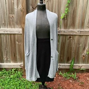 Leith Gray duster cardigan, size med